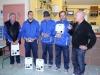 Jean Charles Escudier avec l'équipe de Cahors , vainqueur du Challenge