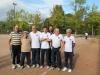 Michel, Eugène, Calou, Jean Pierre, Sylvain, Coco, et Jean Paul ( coach)